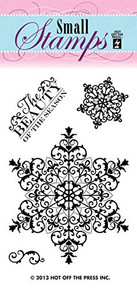 Hot Off The Press - Clear Snowflake Small Stamp