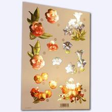Craft UK - Pink, Blue & Orange Flowers- Metalic