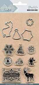 Card Deco Cutting Dies and Stamps- Best Wishes CDESD002