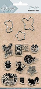 Card Deco Cutting Dies and Stamps- Best Wishes CDESD003