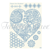 Parchment Lace Butterfly Heart Tapestry Parchement Grid