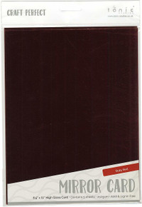 Craft Perfect Mirror Glossy Cardstock 8.5'X11' 5/pkg Ruby, Red