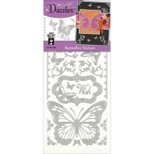 HOTP Dazzles Stickers -Butterflies Silver 2463