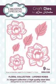 Sue WIlson Floral Collection Layered Roses Craft Die