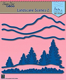 Nellie Snellen Shape Die Blue - Landscape Scenes 2