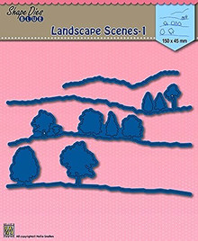 Nellie Snellen Shape Die Blue - Landscape Scenes 1