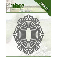 Jeanine's Art Landscapes- Mini Frame Oval Die Set