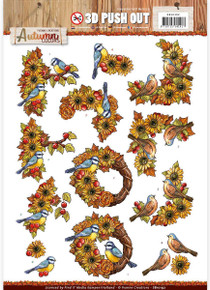 Find It Trading Birds Yvonne Creations Autumn Colors Punchout Sheet