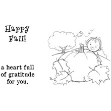 Phyllis Harris Unmounted Rubber Stamp Set-Happy Fall Baby (PH1012A)