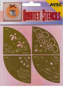 AVEC Quartet Stencils - Embossing /Stitching Ornamental