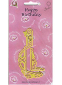 Marianne Designs Happy Birthday Celebration Stencil Metal