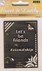 Erica's Sweet/Lovely Stencil-Friendship