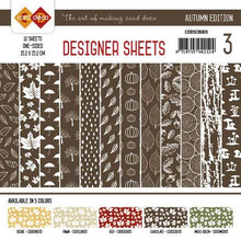 Find It Trading Card Deco Designer Sheets Autumn Edition Chocolate