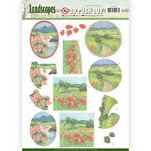 Jeanine's Art Landscapes 3D Pushout Sheet - Summer Landscapes