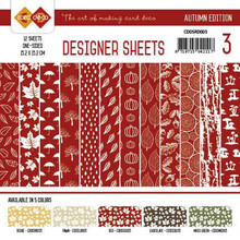 Find It Trading Card Deco Designer Sheets Autumn Edition Red