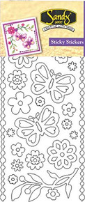 Starform Butterfly and Flower 2957 Double Stick Peel Stickers Outline