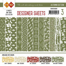 Find It Trading Card Deco Designer Sheets Autumn Edition Moss Green