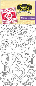 Starform Love 2950 Double Stick Peel Stickers Outline