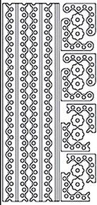 Starform Borders & Corners 2313 Double Stick Peel Stickers Outline