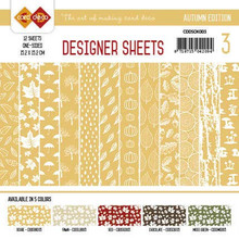 Find It Trading Card Deco Designer Sheets Autumn Edition Ochre