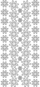 Starform Flowers 3500 Double Stick Peel Stickers Outline