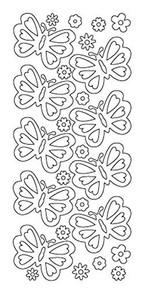 Starform Butterflies 3335 Double Stick Peel Stickers Outline