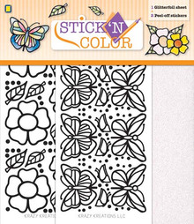 Stick 'n Color Butterflies and Flowers