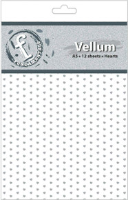Ruby Rock-It Fundamentals A5 Vellum Sheets, 8.3 by 5.8-Inch, Hearts, 12-Pack