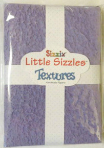Sizzix Little Sizzles Metallic Textures 14 Handmade Papers 4.5' x 6.5'