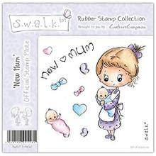 Swalk Collection New Mum EZMount Stamp Set