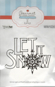 Gourmet Rubber Stamps Cling Stamps - Let it Snow