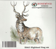 Rosewood Canada Highland Stag Small Rubber Stamp