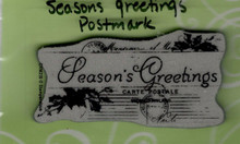 Stampendous Cling Season's Greetings Postmark Rubber Stamp