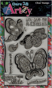 Dare 2B Artzy Clear Stamp - 4168 Butterfly Tangle