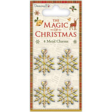 Dovecraft The Magic of Christmas 4 pc Metal Charms