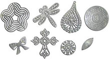 Fabscraps Old Silver Filligree, Set of 4