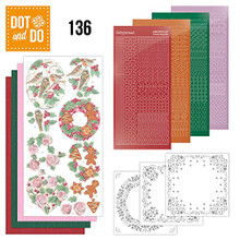 Dot and Do Christmas Florals DODO136 Hobbydots Card Set