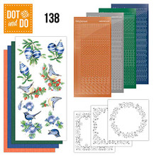 Dot and Do Blue Christmas DODO138 Hobbydots Card Set
