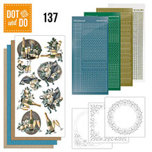 Dot and Do Blue Christmas DODO137 Hobbydots Card Set