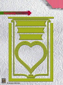 Nellie Snellen STCD001 Special Card for' Stamping Card This Heart 105x148 mm