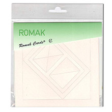 Romak 4 Rectangle Frame Cards- Pink