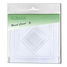 Romak Square Frame Cards- Light Blue