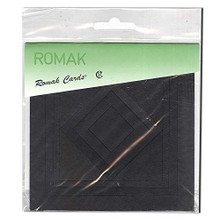 Romak Square Frame Cards- Black