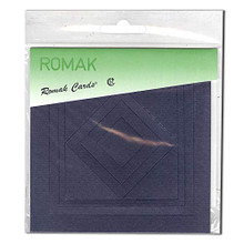 Romak Square Frame Cards- Navy Blue