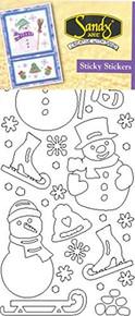 Starform Snowman 2955 Double Stick Peel Stickers Outline