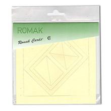 Romak 4 Rectangle Frame Cards- Yellow