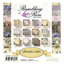 UL157702 Ultimate Crafts Double-Sided Paper Pad 6'X6' 24/Pkg-Rambling Rose 12 Designs/2 Each