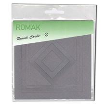 Romak Square Frame Cards- Grey