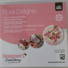My Craft Studio Floral Delights Over 15000 Printable JPEG Digital Stamps