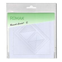 Romak 4 Rectangle Frame Cards- Light Blue